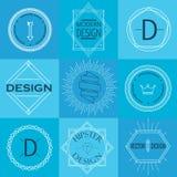 Sistema de insignias y de logotipos retros del vintage stock de ilustración