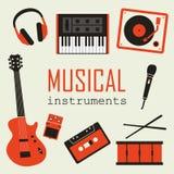 Sistema de instrumentos de música Fotos de archivo