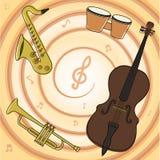 Sistema de instrumentos del jazz Fotografía de archivo