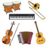 Sistema de instrumentos musicales stock de ilustración