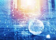 Sistema de interconexión mundial de la red stock de ilustración