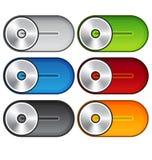 Sistema de interruptores metálicos Fotos de archivo