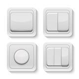 Sistema de interruptores realistas del vector Imagenes de archivo