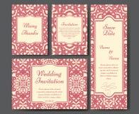 Sistema de invitaciones de la boda Plantilla de las invitaciones de boda con concepto individual Diseñe para la invitación, graci libre illustration