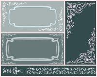 Sistema de invitaciones elegantes de la boda Fotografía de archivo libre de regalías