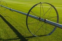 Sistema de irrigação da exploração agrícola de Commerical nas rodas Imagens de Stock Royalty Free