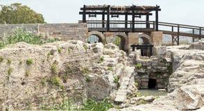 Sistema de irrigación antiguo en Israel Foto de archivo libre de regalías