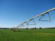 Sistema de irrigación de la granja Fotografía de archivo libre de regalías