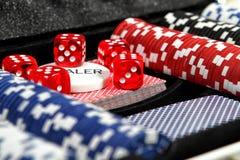 Sistema de juego del póker Imagen de archivo