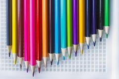 Sistema de lápices coloreados imágenes de archivo libres de regalías