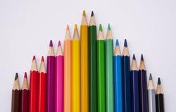 Sistema de lápices coloreados Foto de archivo