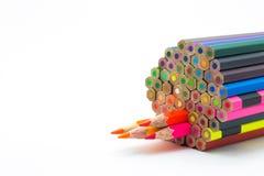 Sistema de lápices de madera de los colores Foto de archivo libre de regalías
