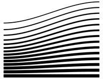 Sistema de líneas con diverso nivel de deformación Geome abstracto stock de ilustración
