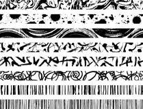 Sistema de líneas del movimiento del cepillo Fotos de archivo libres de regalías
