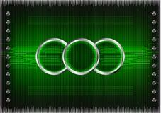 Sistema de líneas en un fondo verde Foto de archivo