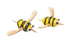 Sistema de la abeja hecha a mano del niño aislada Imágenes de archivo libres de regalías