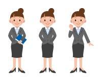 Sistema de la actitud de la mujer de negocios Fotografía de archivo