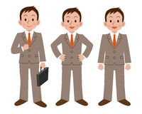 Sistema de la actitud del hombre de negocios Fotos de archivo