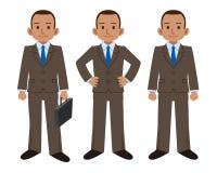 Sistema de la actitud del hombre de negocios Foto de archivo libre de regalías