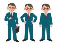 Sistema de la actitud del hombre de negocios Fotos de archivo libres de regalías