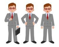 Sistema de la actitud del hombre de negocios Fotografía de archivo