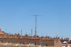 Sistema de la antena de HF del equipo de radio-aficionado fotos de archivo libres de regalías