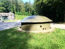Sistema de la arcón de Schoenenbourg del fuerte en la línea de Maginot Ouvrage Schoenenbourg Alsacia Franceen 2016 Fotos de archivo
