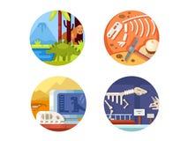 Sistema de la arqueología de iconos libre illustration