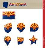 Sistema de la bandera de Arizona, sistema #241 de la bandera ilustración del vector