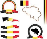 Sistema de la bandera de Bélgica Imágenes de archivo libres de regalías