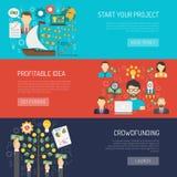 Sistema de la bandera de Crowdfunding stock de ilustración