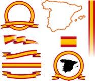 Sistema de la bandera de España Foto de archivo libre de regalías