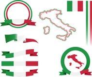 Sistema de la bandera de Italia Imagen de archivo