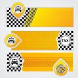 Sistema de la bandera de la compañía del taxi de 3 Fotografía de archivo