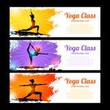 Sistema de la bandera de la yoga Imagenes de archivo
