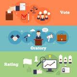 Sistema de la bandera de las elecciones Fotos de archivo libres de regalías