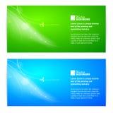 Sistema de la bandera de las luces del extracto. Foto de archivo libre de regalías