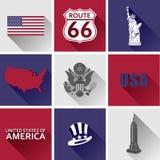 Sistema de la bandera de los E.E.U.U. Fotos de archivo