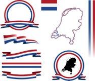 Sistema de la bandera de Nehterlands Fotos de archivo