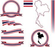 Sistema de la bandera de Tailandia Imágenes de archivo libres de regalías