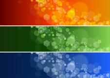 Sistema de la bandera Defocused de las luces Fotografía de archivo libre de regalías