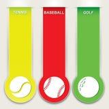 Sistema de la bandera del deporte Imagenes de archivo