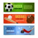Sistema de la bandera del deporte Fotografía de archivo