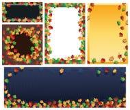 Sistema de la bandera del marco de la hoja del otoño Fotografía de archivo libre de regalías
