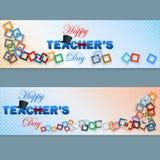 Sistema de la bandera del web para el día del profesor feliz Fotografía de archivo libre de regalías