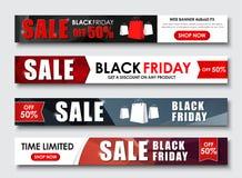 Sistema de la bandera del web para las ventas en Black Friday libre illustration