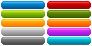 Sistema de la bandera, fondo del botón Botones rectangulares horizontales ilustración del vector