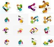 Sistema de la bandera infographic de papel geométrica abstracta Fotos de archivo libres de regalías