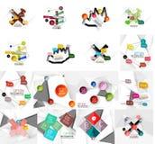 Sistema de la bandera infographic de papel geométrica abstracta Fotos de archivo
