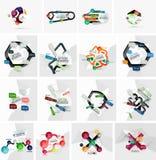 Sistema de la bandera infographic de papel geométrica abstracta Fotografía de archivo libre de regalías